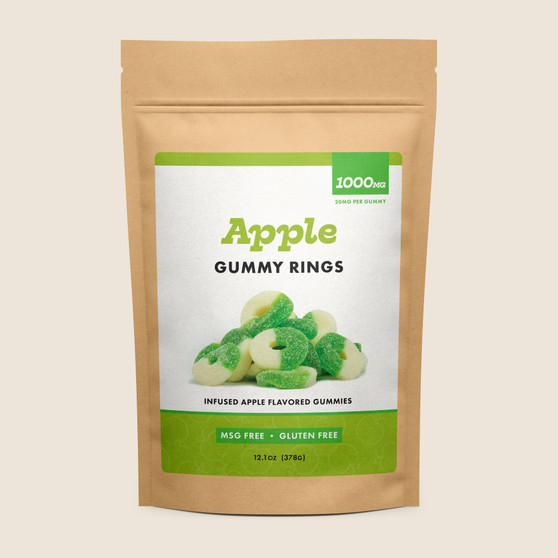 Gummy Rings - Apple - 1000mg