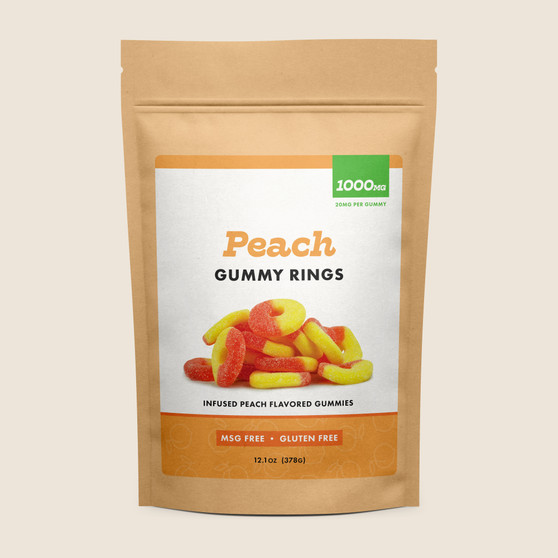 Gummy Rings - Peach - 1000mg