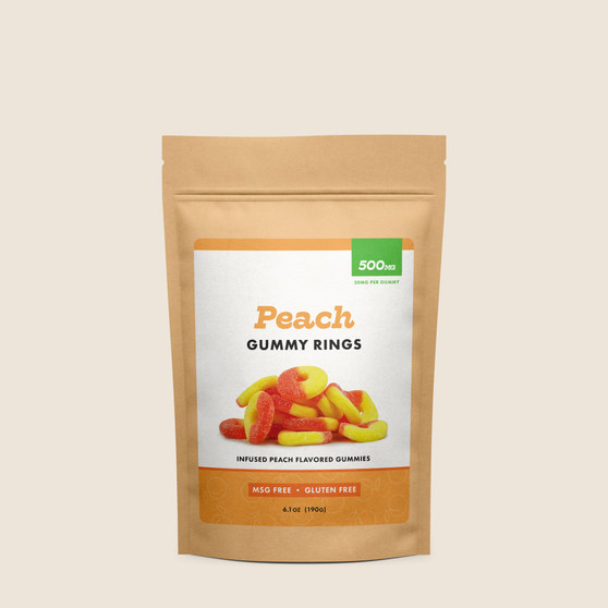 Gummy Rings - Peach - 500mg