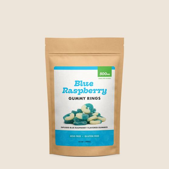 Gummy Rings - Blue Raspberry - 500mg
