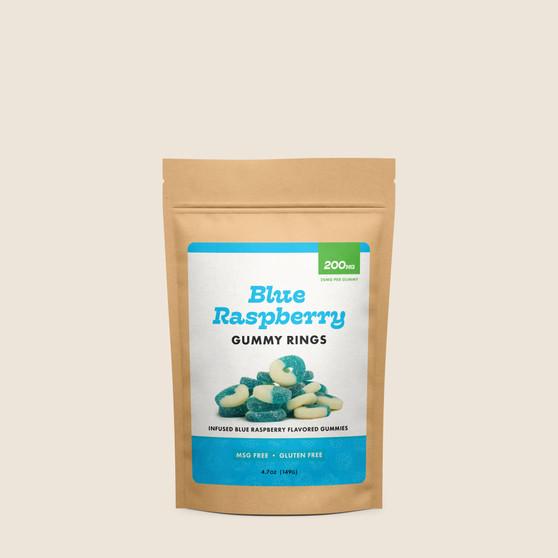 Gummy Rings - Blue Raspberry - 200mg