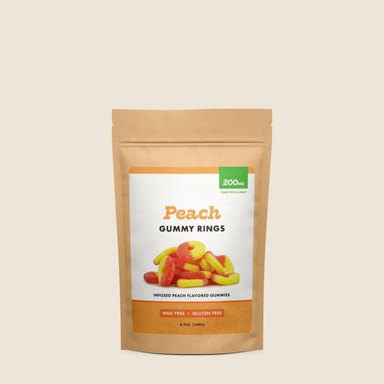Gummy Rings - Peach - 200mg