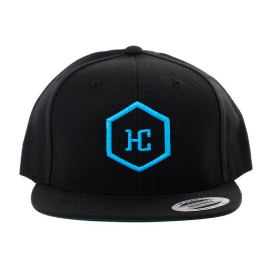 Hat -  Black/Aqua