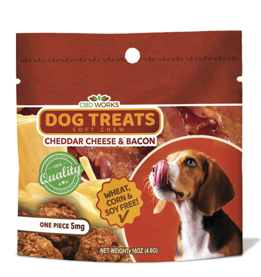 Dog Treats Cheddar and Bacon Single 5mg