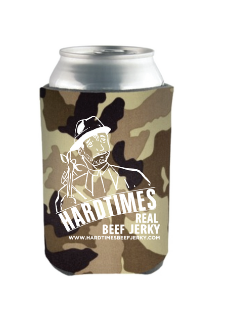 Hardtimes Beef Jerky Logo Koozie