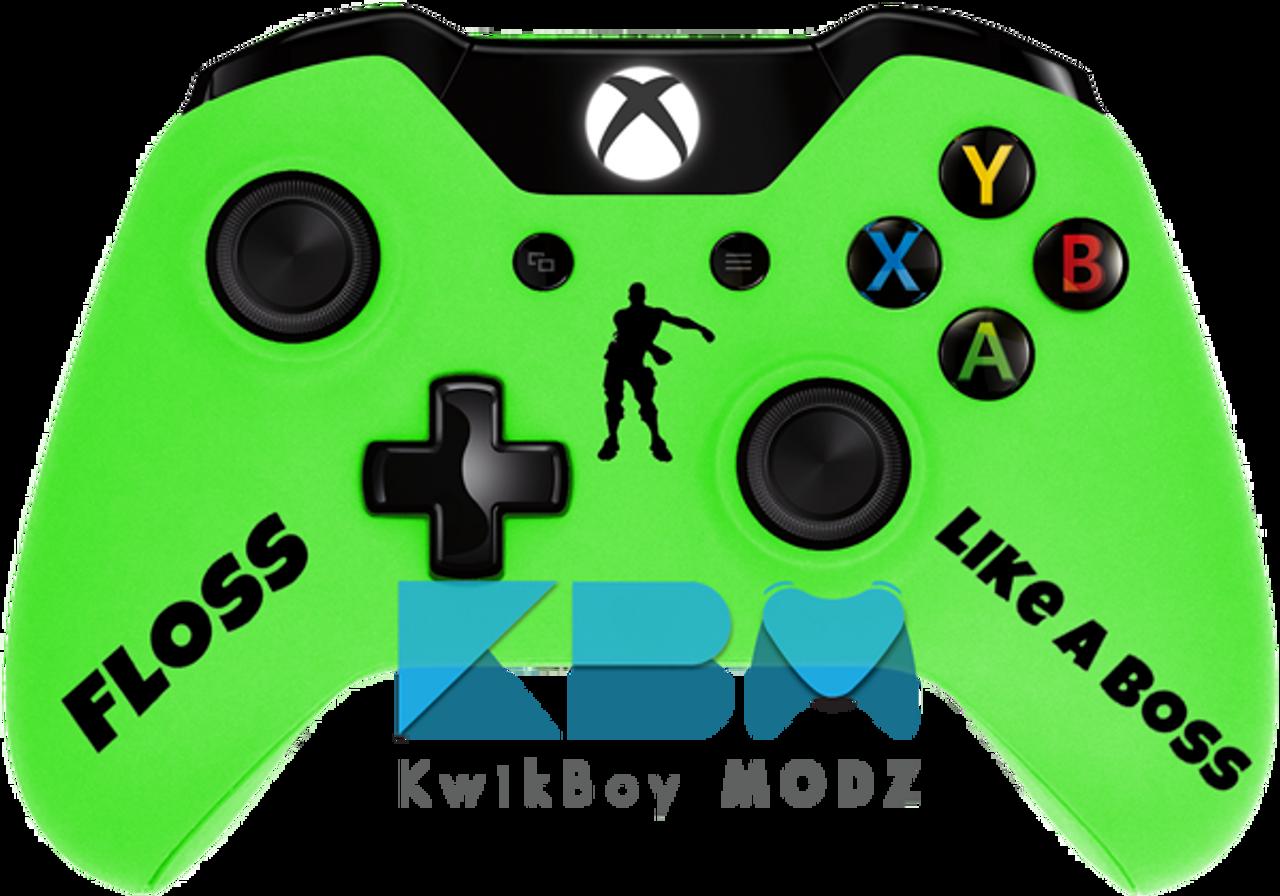 Custom Green Fortnite Xbox One Controller Kwikboy Modz