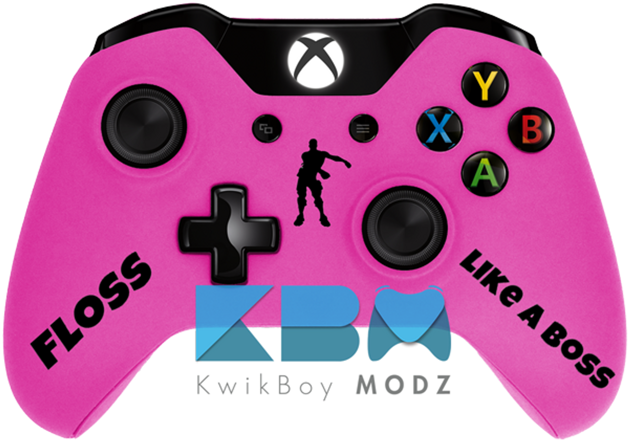 Pink Fortnite Floss Xbox One Controller