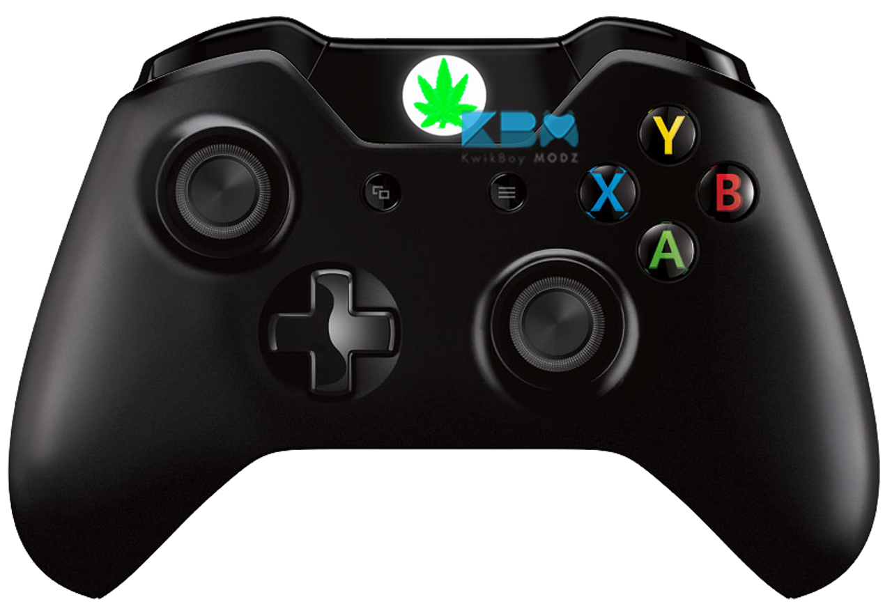 Custom Pot Leaf Guide Button For Xbox One