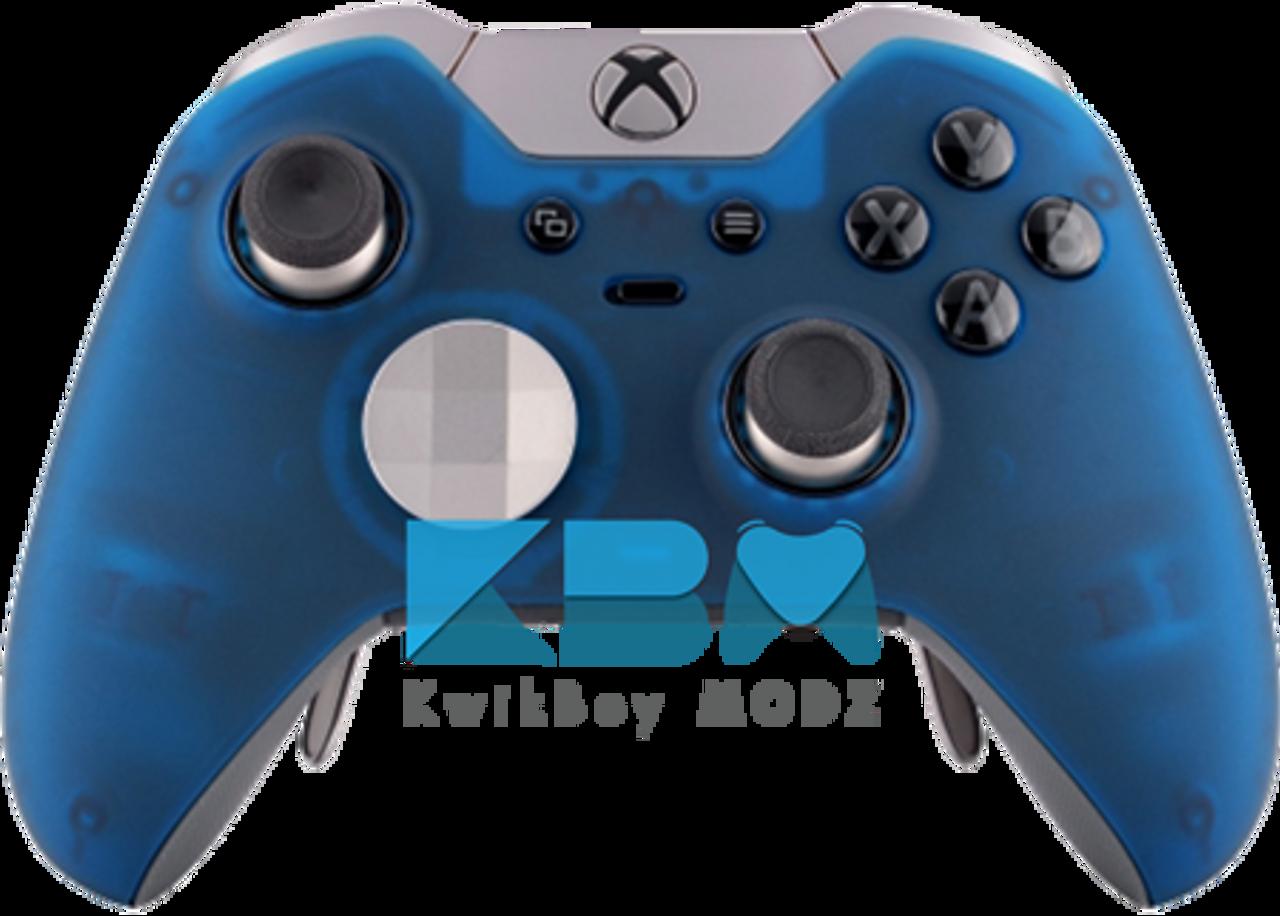 Transparent Blue Xbox One Elite Controller