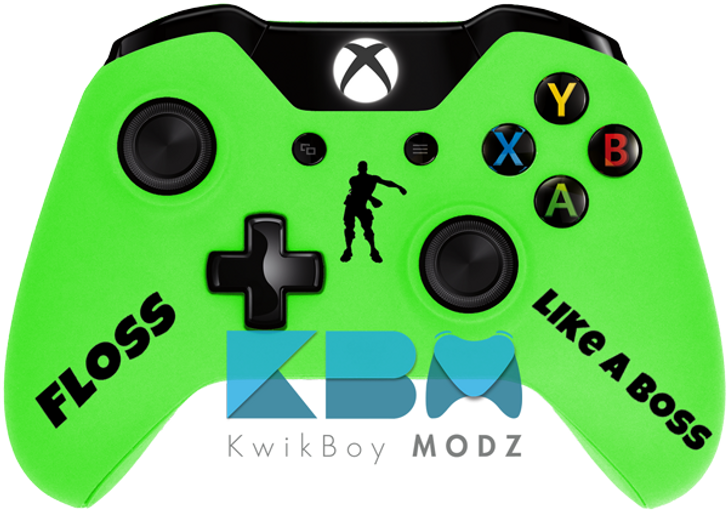 Custom Green Fortnite Xbox One Controller - KwikBoy Modz