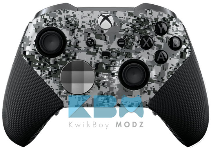 Custom White Digital Camo Elite Series 2 Controller