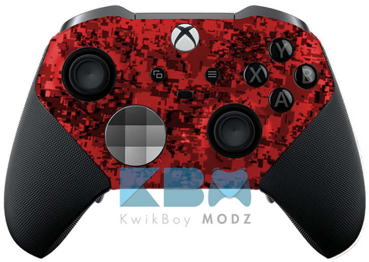 Custom Red Digital Camo Xbox One Elite Series 2 Controller