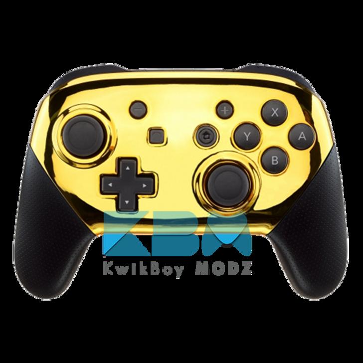 Custom Gold Chrome Switch Pro Controller