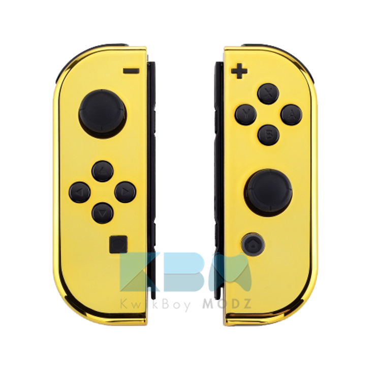 Custom Gold Chrome Joy-Cons