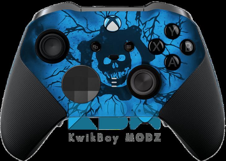 Custom Gears of War Blue Elite Series 2 Controller