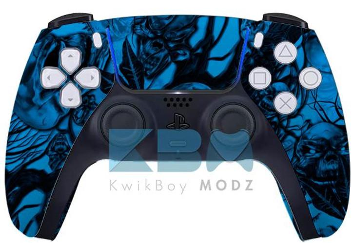 Sony Blue MrCreepy Custom PS5 Controller