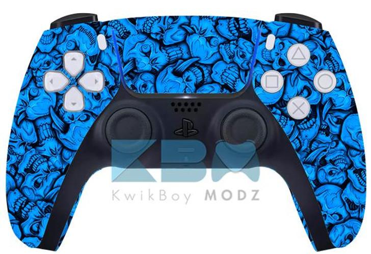 Sony Blue Insanity Skulls Custom PS5 Controller
