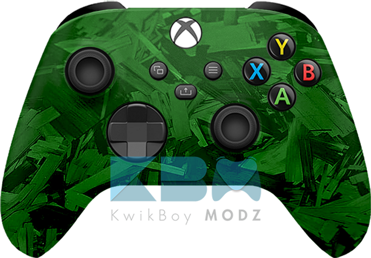 Custom Green Fracture Xbox series X/S Controller