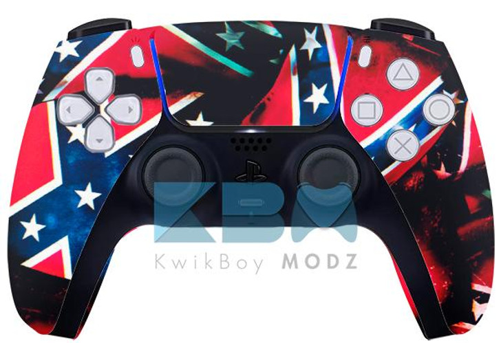 Sony Rebel Flag Custom PS5 Controller