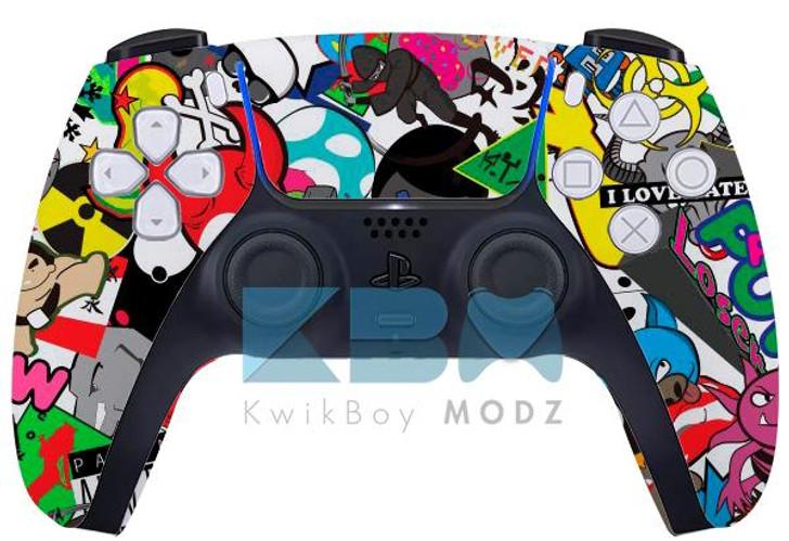 Sony Sticker Vandal Custom PS5 Controller