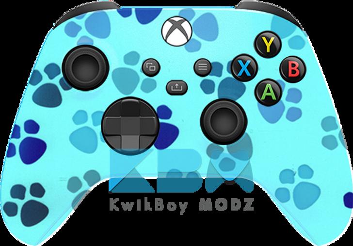 Microsoft Tiffany Blue Paw Print Custom Xbox Series X/S Controller