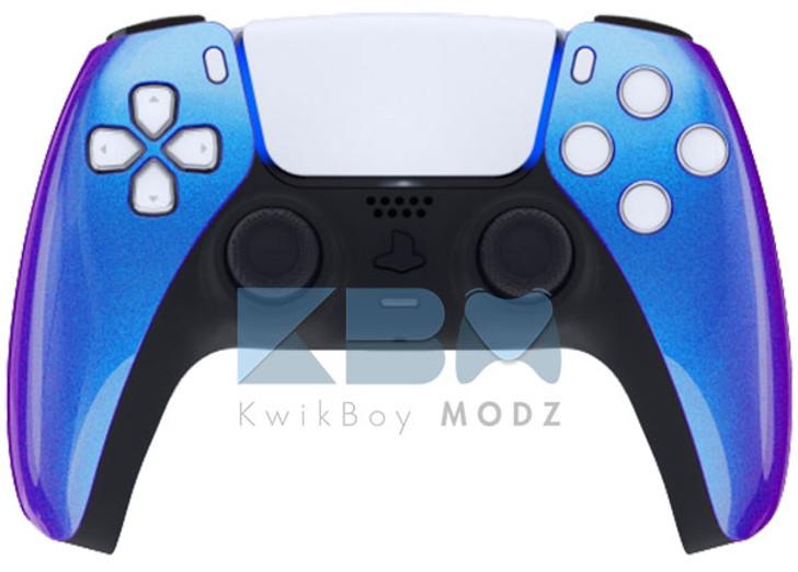 Custom Blue Chameleon PS5 Controller