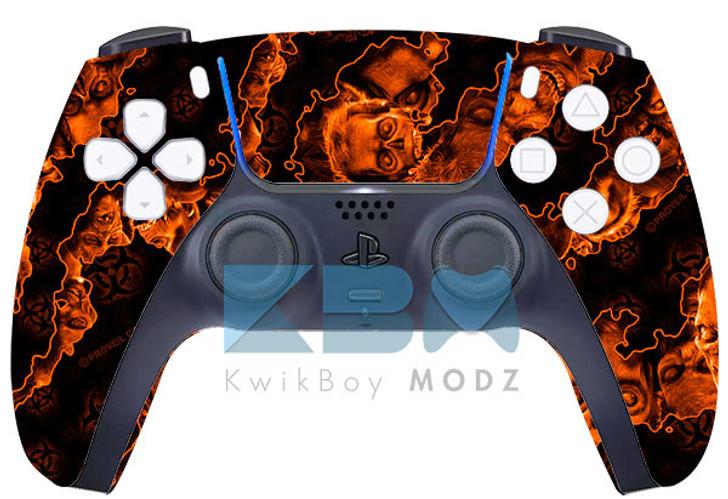 Custom Orange Apocalypse PS5 Controller
