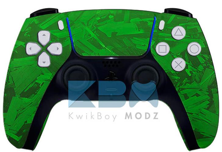 Custom Green Fracture PS5 Controller
