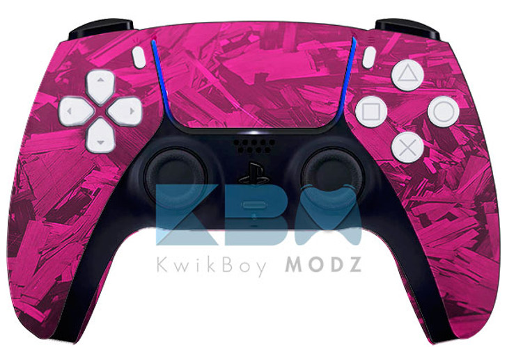 Custom Pink Fracture PS5 Controller