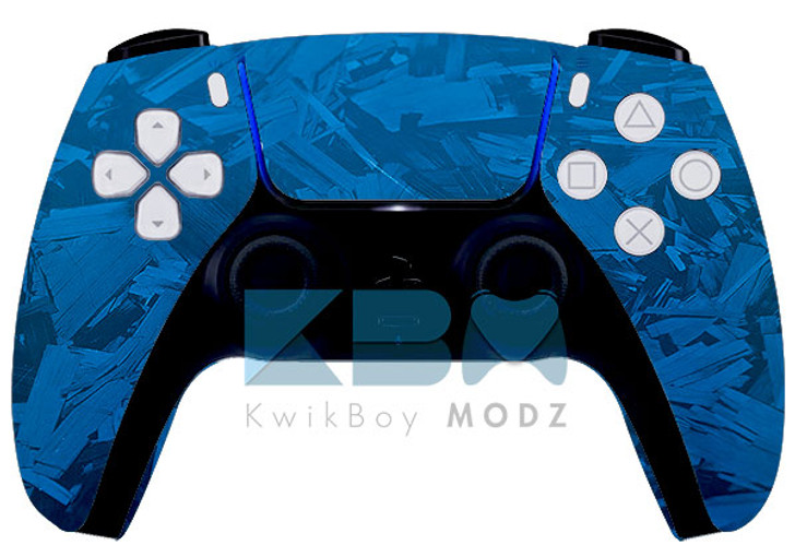 Custom Blue Fracture PS5 Controller