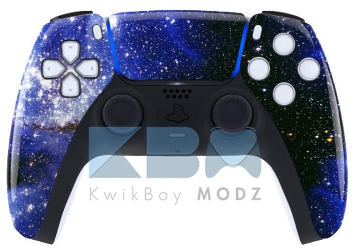 Custom Blue Galaxy PS5 Controller