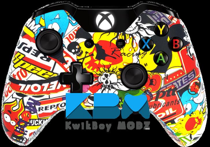 Custom Sticker Bomb Xbox One Controller