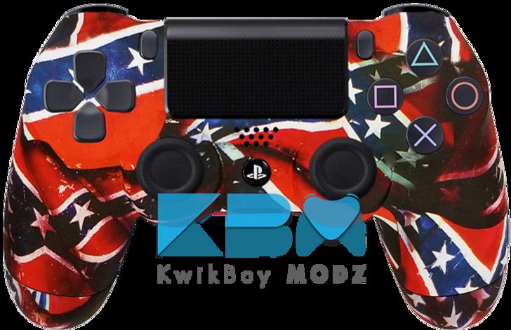 Rebel Flag Custom PS4 Controller