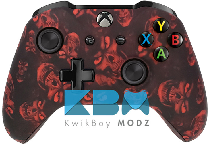 Custom Red Hades Skulls Xbox One Controller