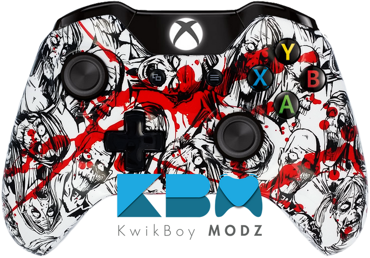 Custom Zombie Blood Splatter Xbox One Controller