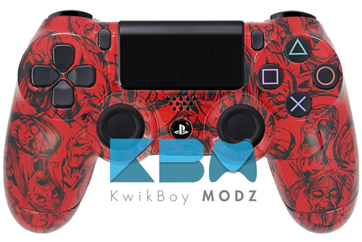 Custom Red Zombies PS4 Controller