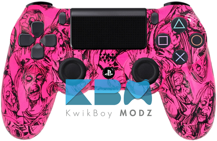 Custom Pink Zombies PS4 Controller