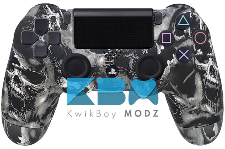 Custom Battered Skulls PS4 Controller