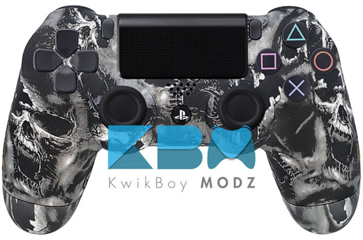 Custom Battered Skulls PS4 Controller