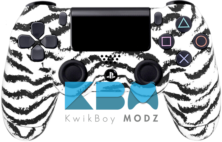Custom White Tiger PS4 Controller