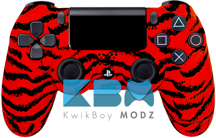 Red Tiger PS4 Controller
