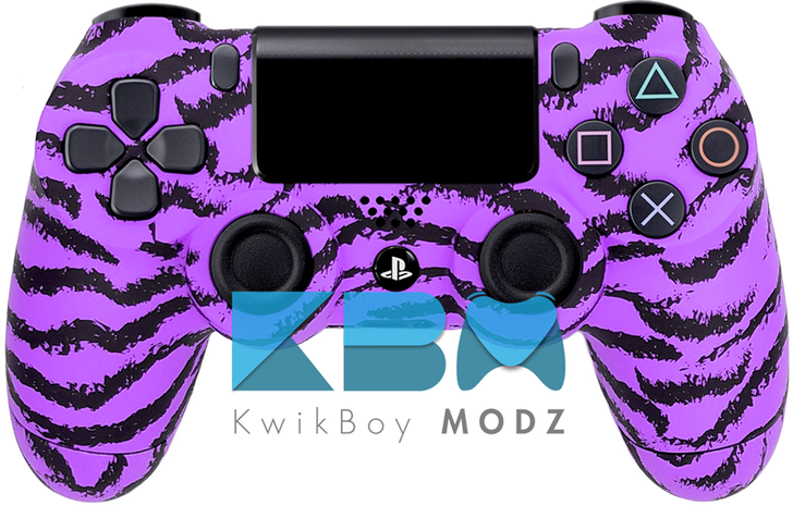 Custom Purple Tiger PS4 Controller