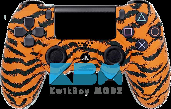 Custom Orange Tiger PS4 Controller