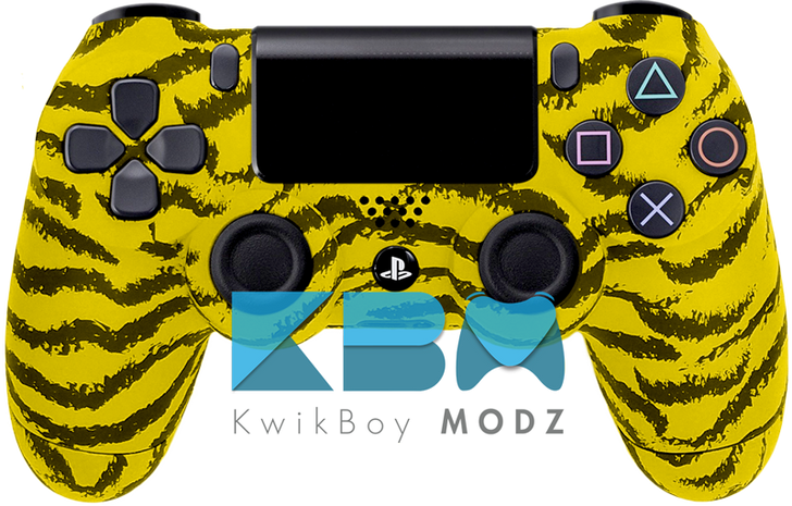 Yellow Tiger Custom PS4 Controller