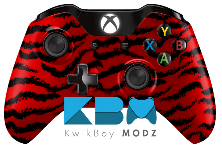 Tiger Camo Xbox One Controller - Red