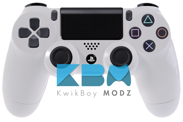 Custom White PS4 Controller