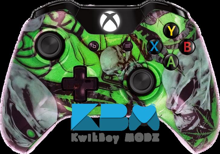 Mr.Creepy Skulls Xbox One Controller - Green