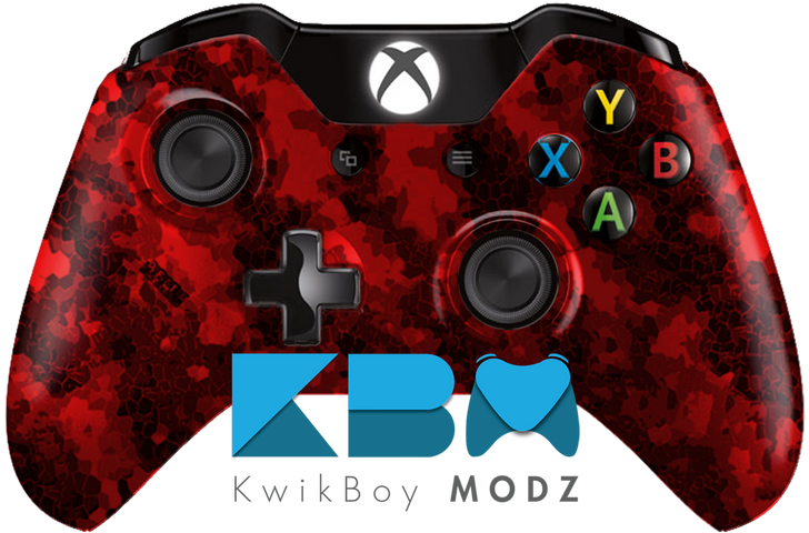 Red Defected Hydro Dipped Xbox One Controller