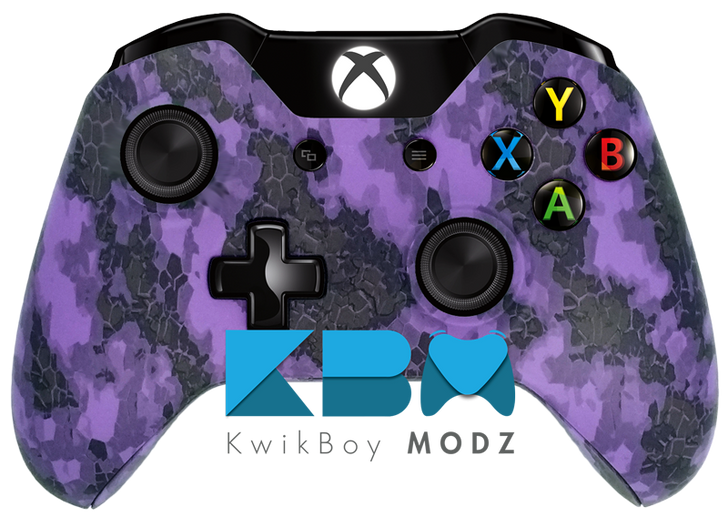 Custom Purple Defected Xbox One Controller