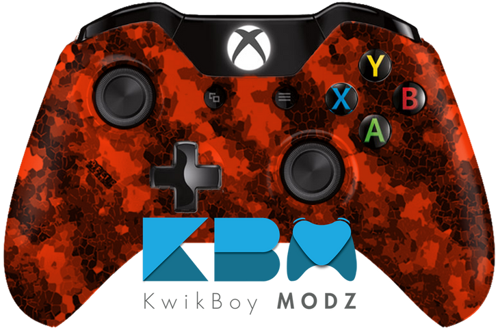 Orange Defected Hydro Dipped Xbox One Controller